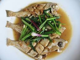 leatherjacket fish cooked in fermented soya bean paste 鸡肉鱼煮豆酱