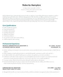 Sample Administrative Assistant Resumes Healthcare Administrative