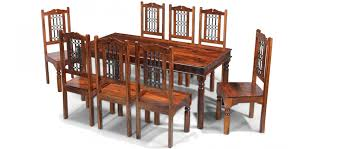 Sheesham Bedroom Furniture Jali Sheesham 180 Cm Thakat Dining Table And 8 Chairs Quercus Living