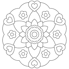 Small Picture Simple Mandala Coloring Pages Miakenasnet