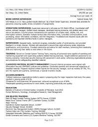 Resume Examples For Military Perfect Resume