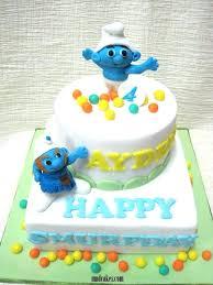 Cake Children Cake And Square Cakes Smurf Birthday Cake Ideas Smurf