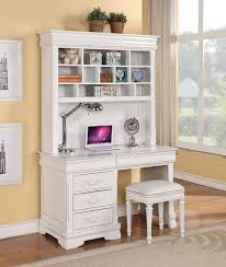 acme furniture classique white finished youth computer hutch and white desk hutch