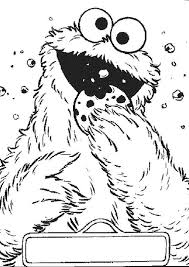 Cookie Monster Bite Coloring Pages 2nd Birthday Monster Coloring