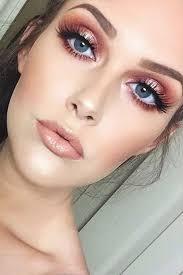 rose gold eyeshadow bold lashes