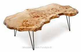 live edge slab coffee table hair pin modern legs throughout wood inspirations 12