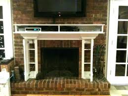 mounting tv above brick fireplace over ideas flat screen for making it look install mounting tv above brick fireplace a over into installing