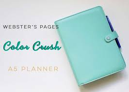 Websters Pages Color Crush A5 Planner The House Of Plaidfuzz