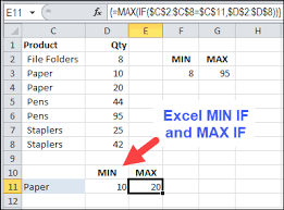 Excel Max Min Average Chart How To Find Min If Or Max If In Excel Contextures Blog