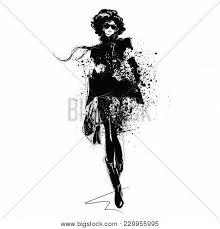 Fashion Girl Sketch Vector Photo Free Trial Bigstock