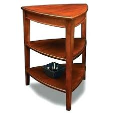 small round end table with drawer corner shelves accent side storage display stand space wood n