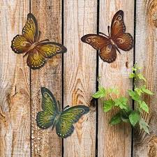 Juegoal 4 pack metal butterfly wall art inspirational wall decor sculpture hanging for indoor outdoor home bedroom living room office garden, blue, yellow, green and red butterflies with 12 inch each 49 $19 99 Metal Butterfly Wall Decor Colored Metal Butterflies Set Of Three Wall Art Outdoor Wall Decor Pricepulse
