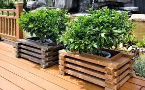 garden planter boxes wooden garden