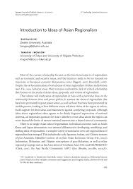 Asian asian introduction politics regionalism southeast