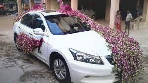 newlywed car decroation couple s car decroation exclusive flower decorations for car