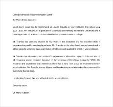 good recommendation letter for college 18 college recommendation letters pdf word