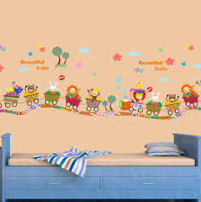 aliexpress com beautiful train vinyl wall stickers for kids rooms girls boy home decor living kids room paint