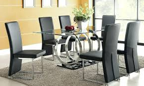 round dining table with 6 chairs arctic white extending black glass dining table and 6 chairs