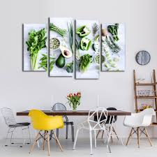 <b>Modular Canvas HD Printed</b> Pictures Kitchen Decor 4 Pieces ...