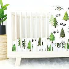 forest crib bedding woodland trees and animal tracks baby friends by carters