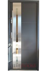 stainless steel front door beautiful new yorker modern entry with glass pertaining to 10
