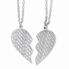 double broken heart name pendant in sterling silver 2 names 20
