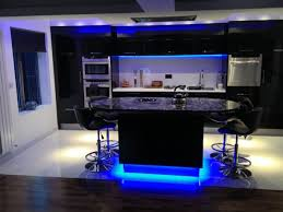 kitchen cabinet lighting ideas. dark kitchen cabinets and blue light floors with modern interior cheapest appliances attractive under cabinet lighting ideas