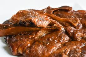 bbq pork steaks in the slow cooker