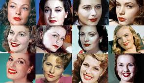 famous 1940s hollywood faces and their make up
