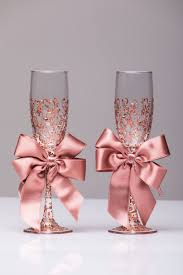 Wedding Glasses Rose Gold Personalized Glasses Rose Gold In