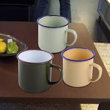 300ml <b>Vintage</b> Handmade <b>Enamel Cup Mug</b> Drinking <b>Coffee</b> Bear ...