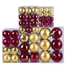120 Stück Hsm Weihnachtskugeln Gold Bordeaux