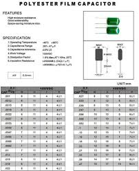 Polyester Capacitor Value Chart 2a102j Capacitor Value