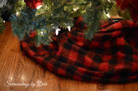 Plaid Christmas Tree Plaid Christmas Tree Skirts Happy Holidays