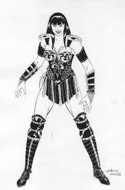 xena warrior princess coloring pages