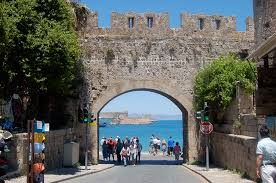 photo essay the greek islands go backpacking the old town part of rhodes is still surrounded by its impressive medieval wall