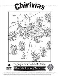 142 Best Free Interactive Coloring Sheets English And Spanish Food