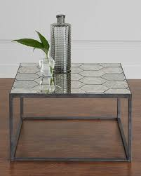 Image Silver Annalee Antiqued Mirror Bunching Coffee Table New Lots Furniture Antiqued Mirror Furniture Neiman Marcus