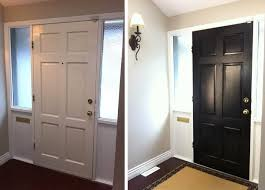 tired of the go to white door paint the inside of the front door glossy black