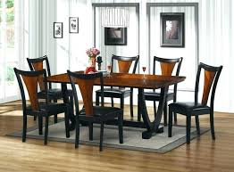 dining table sets black table and chairs