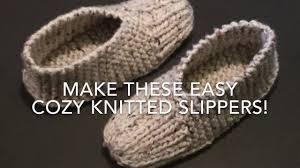 Knitted Slippers Easy For Beginners