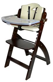 com abiie beyond wooden high chair with tray the perfect adjule baby highchair solution for your es and toddlers or as a dining chair
