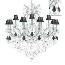 chandelier crystal parts lighting trimmed maria chandeliers with black shades silver suppliers uk