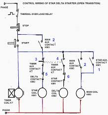 star delta motor starter eep control circuit of star delta starter open transition