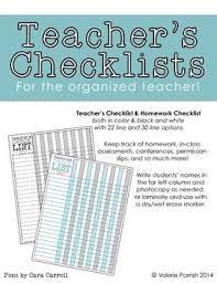 Teachers Checklists Education Kids Pinterest Teacher