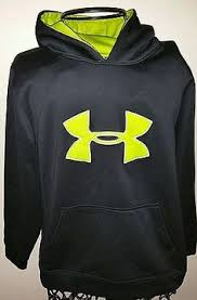 under armour youth hoodie. boys youth ua hoodie reposhing - my son tried it on and prefers a bigger size so he has more room in it. orange gray hoodie. like new co\u2026 under armour g