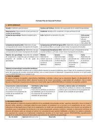 Formato De Plan De Clase Incluye Ejemplo De Planeacion By