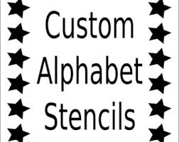 alphabet stencil letter stencil any font small to large reusable mylar for signs fabric large wall art weddings businesses on wall art letter stencils uk with stencils for makeup face painting etsy uk