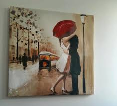 canvas wall art picture couple in rain red umbrella on couple with red umbrella wall art with canvas wall art picture couple in rain red umbrella in westcliff
