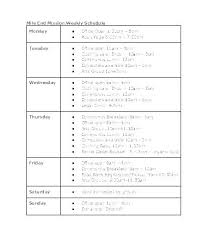 Examples Of Cleaning Schedules Notebook 5 Printable Cleaning Schedules Schedule Template